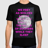 We Prey As Wolves Mens Fitted Tee Black SMALL