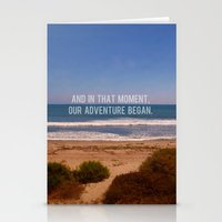 And In That Moment, Our Adventure Began Stationery Cards