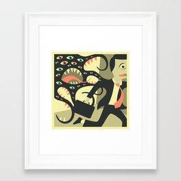 Framed Art Print - DON'T LOOK BACK - Jazzberry Blue
