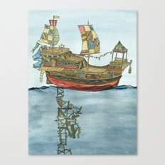 Pirate Ship Print Canvas Print