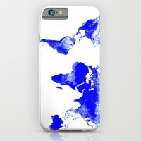 world map iPhone & iPod Cases featuring World map by WhimsyRomance&Fun