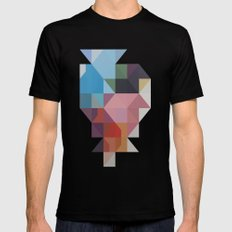 two become one SMALL Black Mens Fitted Tee