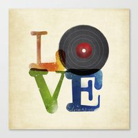 Love is Music Canvas Print