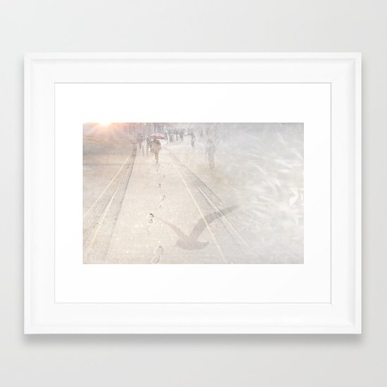 Going towards winter Framed Art Print