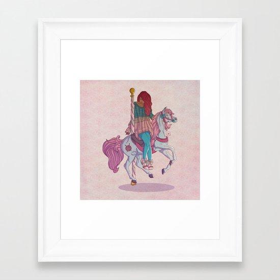 Carousel Framed Art Print