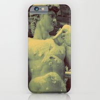 iPhone & iPod Case featuring David Statue in Florence on a Snowy Day by shari hochberg