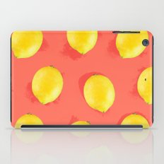 Watercolor Lemons iPad Case