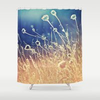 Blue and day  Shower Curtain