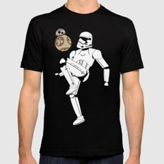Droid Soccer SMALL Mens Fitted Tee Black