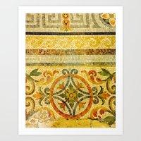 Mosaic Floor 2 Art Print