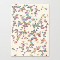 Rainbow Rain Canvas Print
