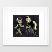 Franken-Fine Framed Art Print