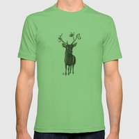 Oh my deer Mens Fitted Tee Grass SMALL