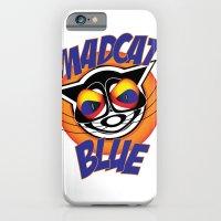 iPhone & iPod Case featuring MadCat Blue by Alan Bennington