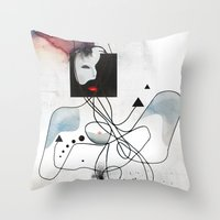 Advanced Indigo   Throw Pillow