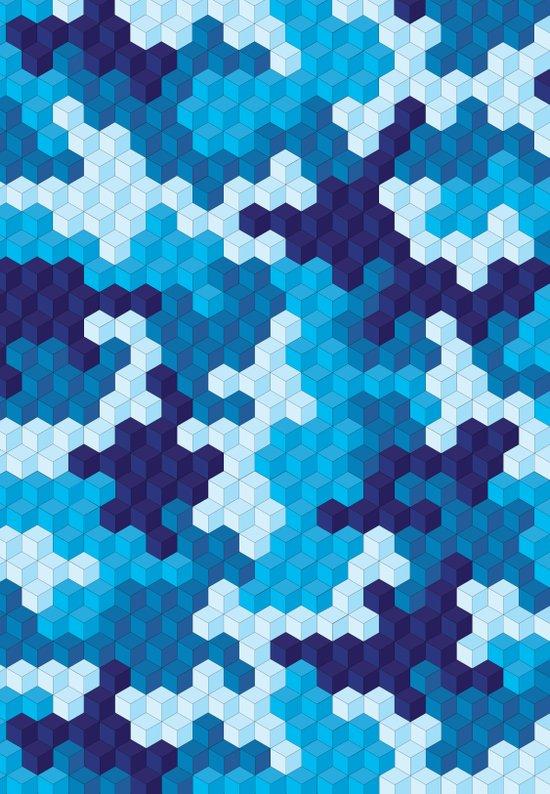 CUBOUFLAGE BLUE Art Print