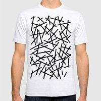 Kerpluk Black on White Mens Fitted Tee Ash Grey SMALL