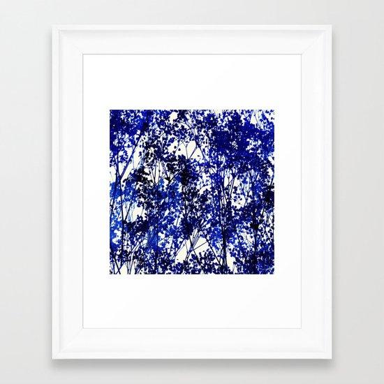 Autumn - Indigo Framed Art Print