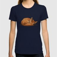 T-shirt featuring Let Sleeping Foxes Lie by Helenasia