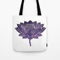 Universe In Lotus Holly … Tote Bag