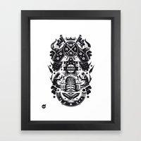 New fren shield Framed Art Print