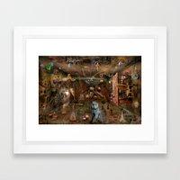 Dream Space Chaos Framed Art Print