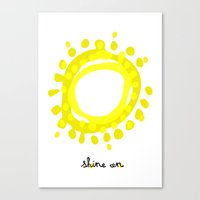 Shine on! Canvas Print