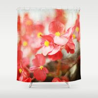 Scarlet Begonias Shower Curtain