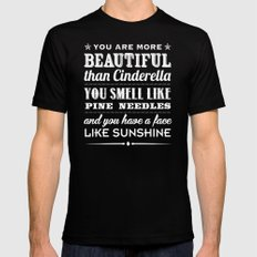 Sunshine Face SMALL Black Mens Fitted Tee