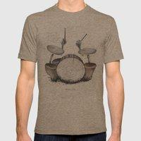 Mushroom Drums Mens Fitted Tee Tri-Coffee SMALL