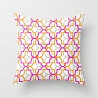 Moroccan Trellis Overlaps Throw Pillow