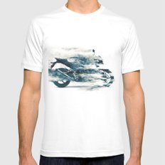 Dynamic motorcycle Mens Fitted Tee White SMALL