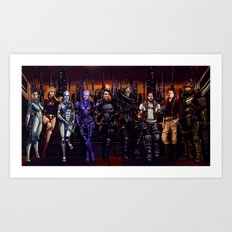 Mass Effect - Team of Awesomness Art Print