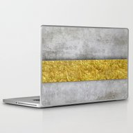Laptop & iPad Skin featuring Concrete And Gold by LebensART