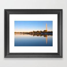 Golden Autumn Hour of Washington DC Framed Art Print