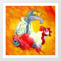 Gonzo With The Wind Art Print