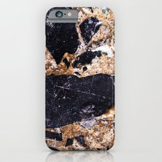 Black and Gold Marble Slim Case iPhone 6s