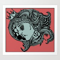 Phases of the Moon, Lady of the Sea Art Print