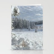 Scenery Forest Winter Wo… Stationery Cards