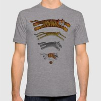 Wi-Fi Cats Mens Fitted Tee Athletic Grey SMALL