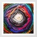 Scarf Rainbow Art Print