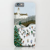 Ice skating pond iPhone 6 Slim Case
