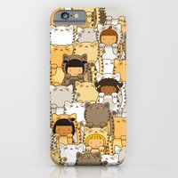 iPhone & iPod Case featuring Lucky Cats by Pigtails