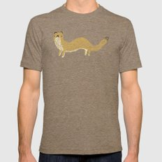 Fluffy Weasel Mens Fitted Tee Tri-Coffee SMALL