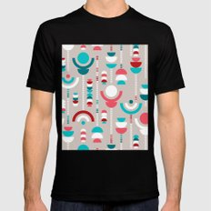 Tulip Tumble Mens Fitted Tee Black SMALL