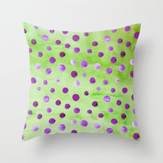 Polka Dot Pattern 01 Throw Pillow