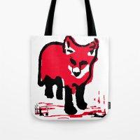 Red Fox Stamp Tote Bag