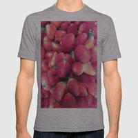 Strawberries In Paloquem… Mens Fitted Tee Athletic Grey SMALL