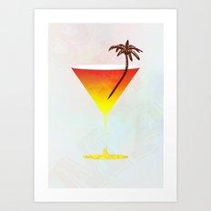 Rum Cocktail Art Print