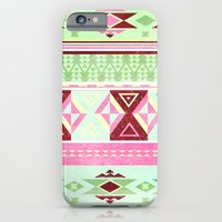 iPhone & iPod Case featuring Neon Aztec by Cynthisonfire